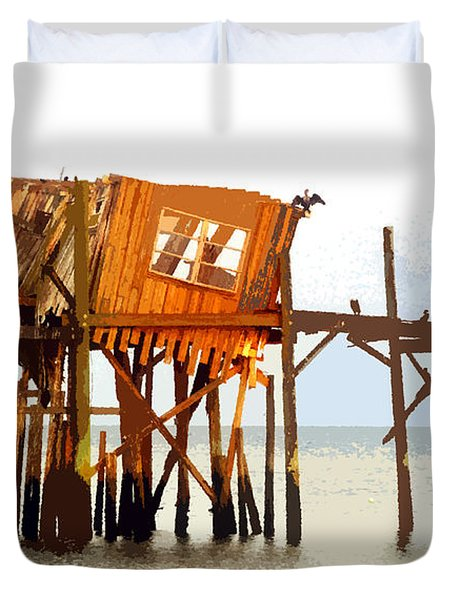 The Last Of Old Cedar Key Duvet Cover by David Lee Thompson