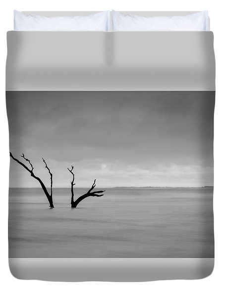 I'm Not Alone - Folly Beach Sc Duvet Cover