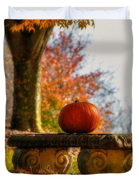 The Last Pumpkin Duvet Cover
