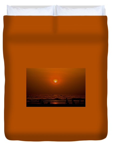 The Last Rays Duvet Cover