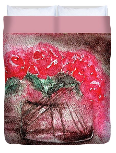 The Last Red Roses Duvet Cover