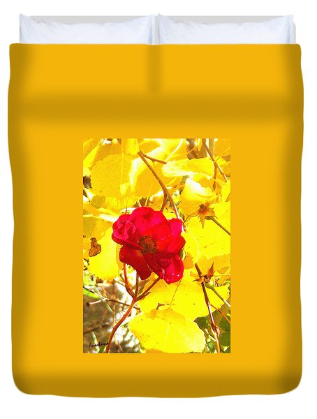 The Last Rose Of Autumn Duvet Cover by Anastasia Savage Ealy