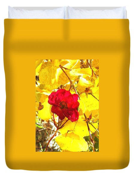 The Last Rose Of Autumn II Duvet Cover by Anastasia Savage Ealy