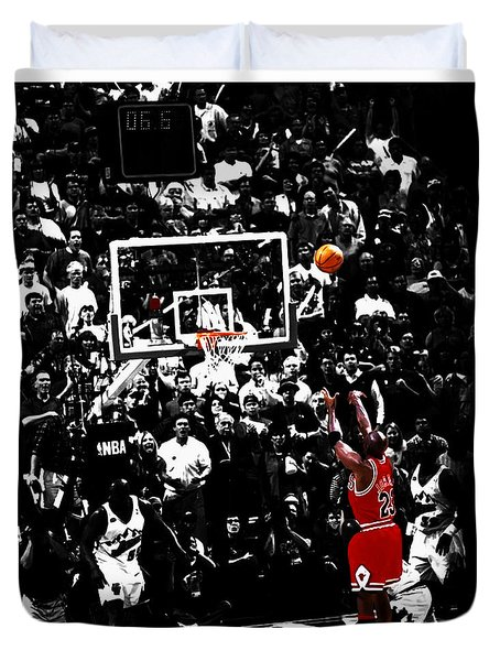 The Last Shot 23 Duvet Cover by Brian Reaves