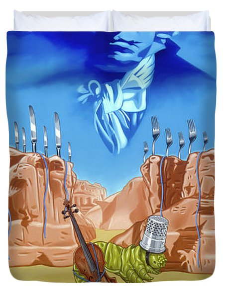 The Last Soldier An Ode To Beethoven Duvet Cover