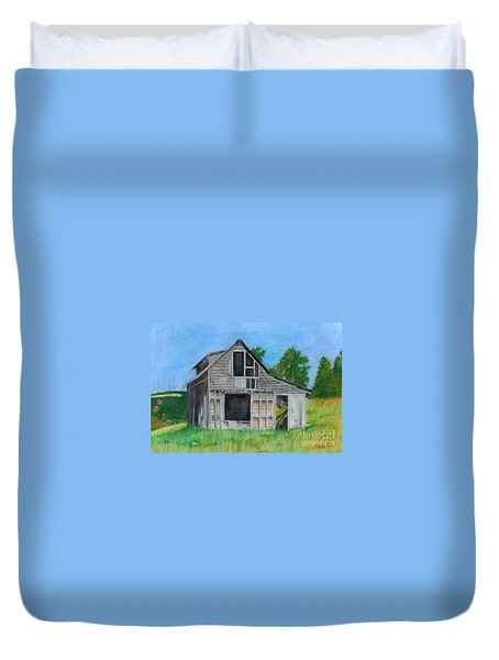 The Last Stage Stop Duvet Cover by Mendy Pedersen