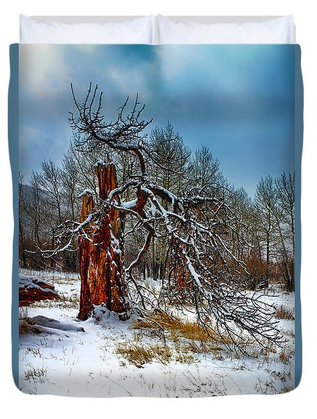 Duvet Cover featuring the photograph The Last Stand by Shane Bechler