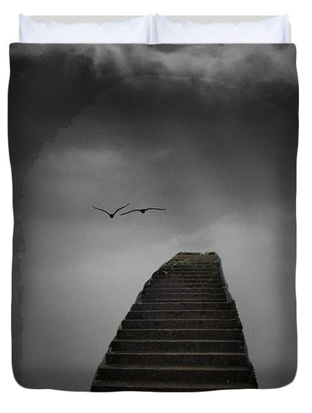 The Last Steps Duvet Cover by Keith Elliott