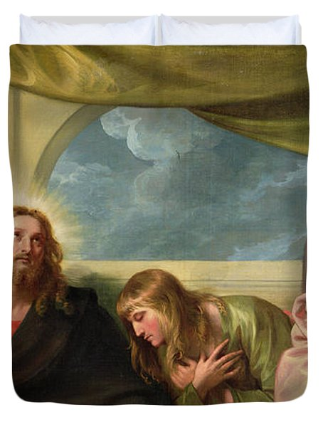 The Last Supper Duvet Cover by Benjamin West