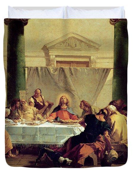 The Last Supper Duvet Cover by Giovanni Battista Tiepolo
