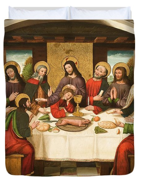 The Last Supper Duvet Cover by Master of Portillo