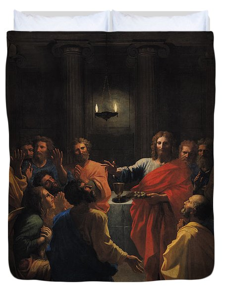 The Last Supper Duvet Cover by Nicolas Poussin