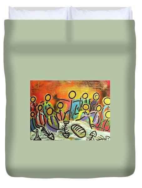 The Last Supper Recitation Duvet Cover
