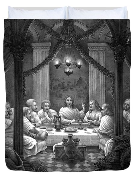 The Last Supper Duvet Cover by War Is Hell Store