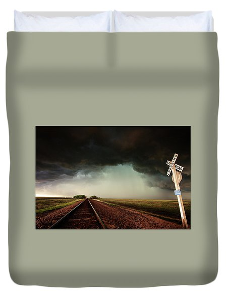 The Last Train To Darksville Duvet Cover