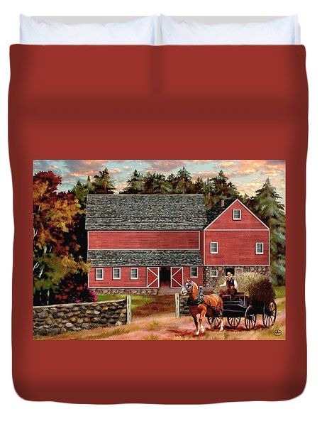 The Last Wagon Duvet Cover by Ron Chambers