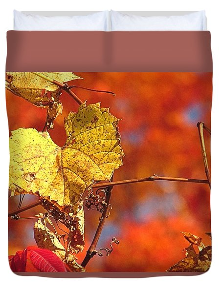 The Last Yellow Leaves Duvet Cover