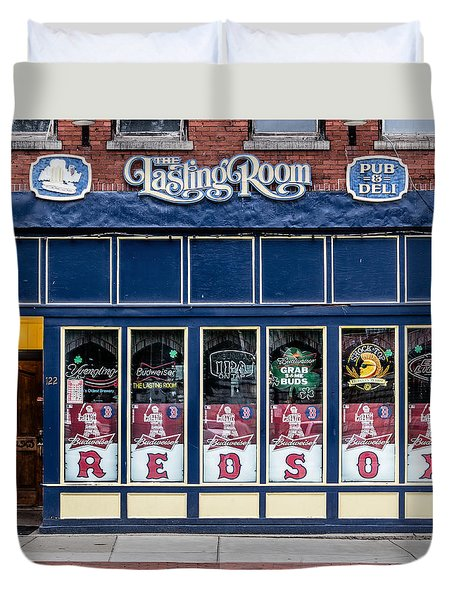 Duvet Cover featuring the photograph The Lasting Room - Haverhill Red Sox Pride by Betty Denise