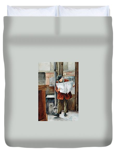 The Latest News Duvet Cover