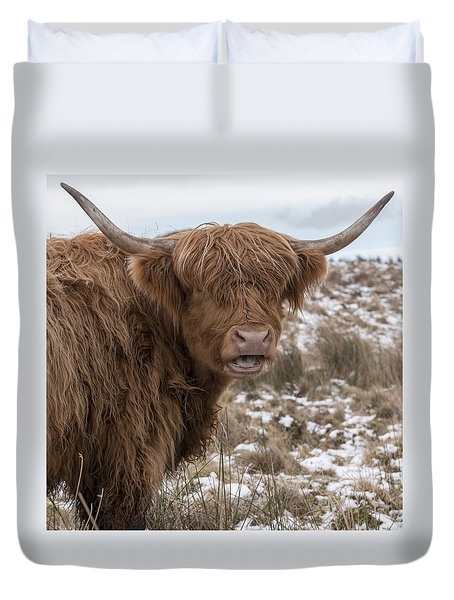 The Laughing Cow, Scottish Version Duvet Cover
