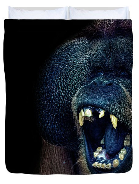 The Laughing Orangutan Duvet Cover