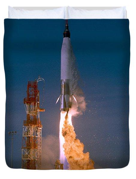 The Launch Of The Mercury Atlas Duvet Cover by Stocktrek Images