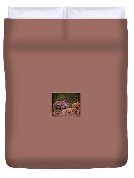 The Lazy 5 Duvet Cover