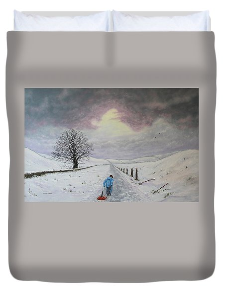 The Leader Of The Pack Duvet Cover by Paul Newcastle