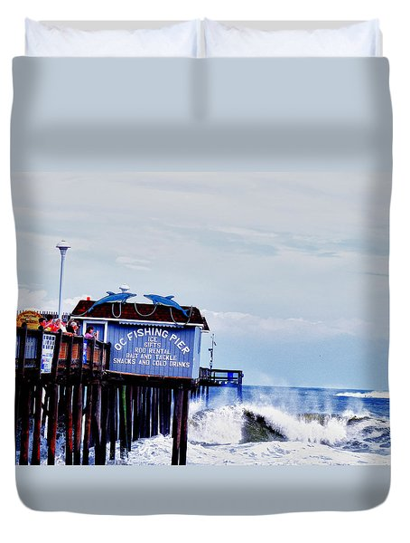 The Leaning Pier Duvet Cover by Kelly Reber