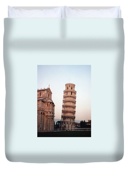 Duvet Cover featuring the photograph The Leaning Tower Of Pisa by Marna Edwards Flavell