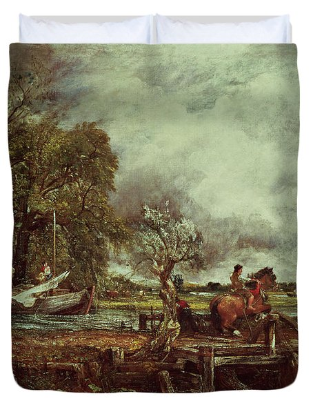 The Leaping Horse Duvet Cover by John Constable