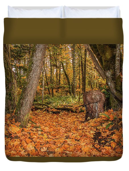 The Leaves Have Fallen Duvet Cover