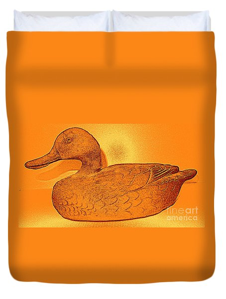 The Legend Of The Golden Duck Duvet Cover by Richard W Linford