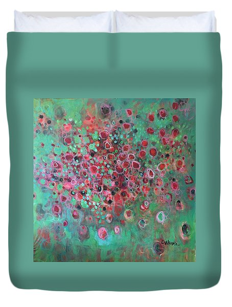 Duvet Cover featuring the painting The Legend Of The Phoenix by Laurie Maves ART