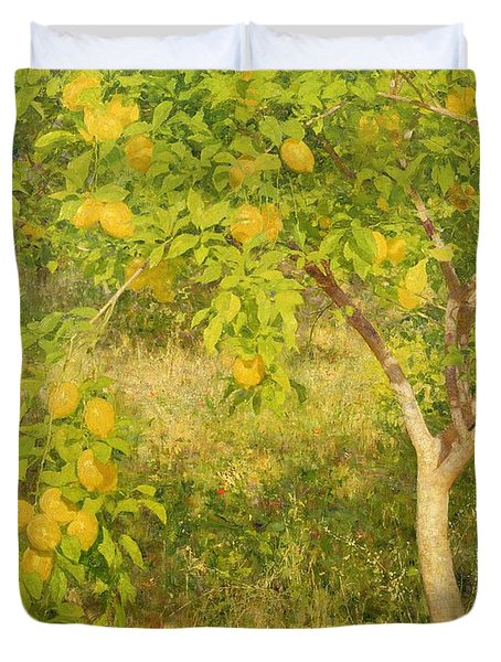 The Lemon Tree Duvet Cover by Henry Scott Tuke