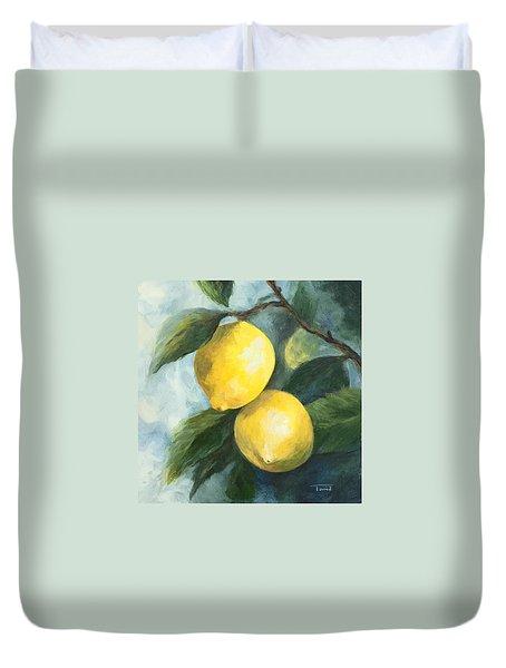 The Lemon Tree Duvet Cover by Torrie Smiley
