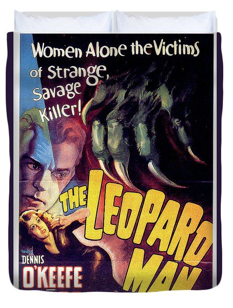 The Leopard Man Duvet Cover by Movieworld Posters