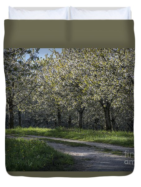 Duvet Cover featuring the photograph The Life Awakes 2 by Bruno Santoro