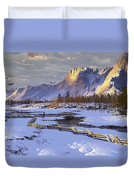 The Life Of Snow Duvet Cover