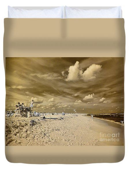 The Lifeguard Stand Duvet Cover