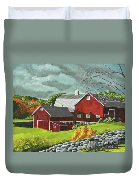 The Light After The Storm Duvet Cover by Charlotte Blanchard