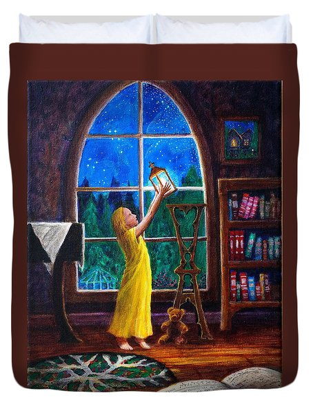 The Light And The Lampstand Duvet Cover
