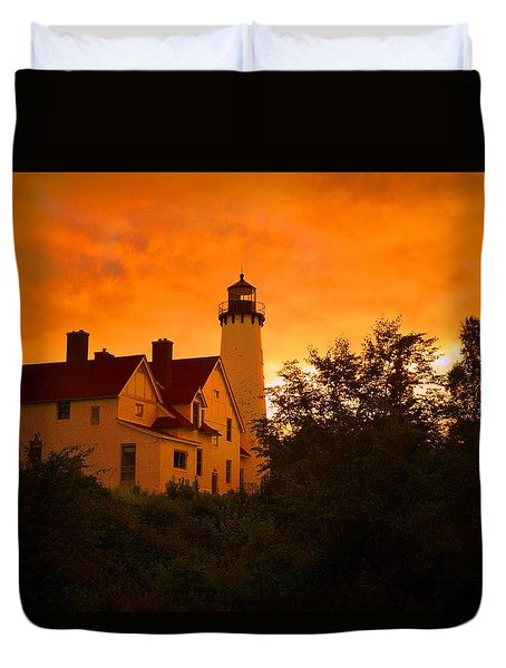The Light At Dusk Duvet Cover
