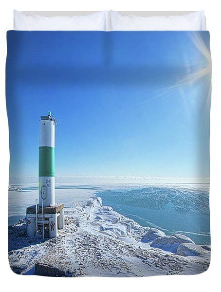 Duvet Cover featuring the photograph The Light Keepers by Phil Koch