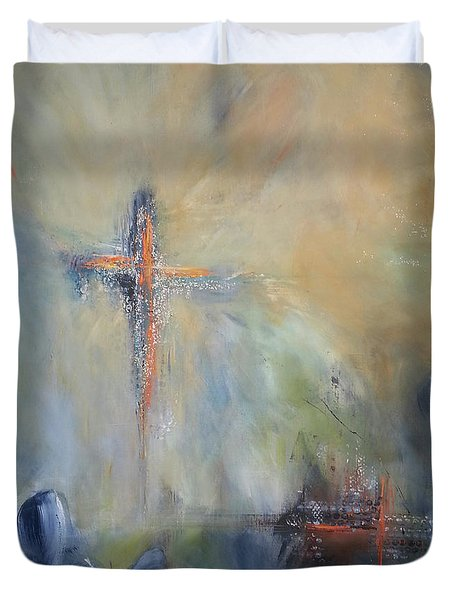 The Light Of Christ Duvet Cover