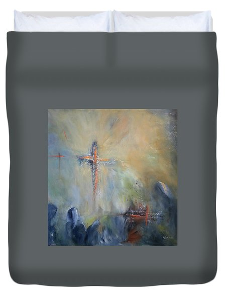 The Light Of Christ Duvet Cover