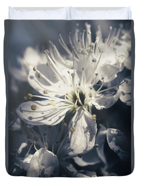 The Light Of Spring Petals Duvet Cover