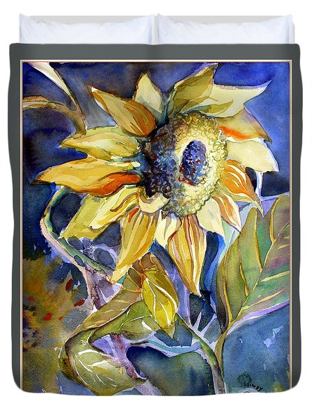 The Light Of Sunflowers Duvet Cover by Mindy Newman