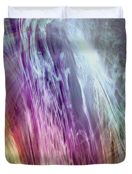 The Light Of The Spirit Duvet Cover by Linda Sannuti