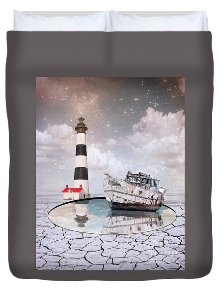 Duvet Cover featuring the photograph The Lighthouse by Juli Scalzi